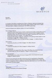 attestation REDEVCO